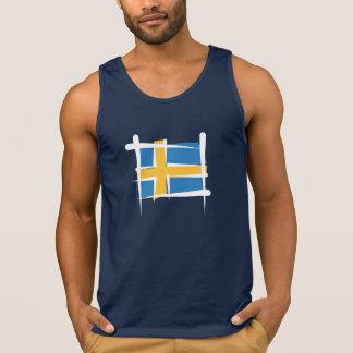 Schweden-Bürsten-Flagge Tanktop