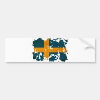 Schweden-Flagge Autoaufkleber