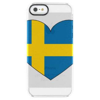 Schweden-Flagge einfach Durchsichtige iPhone SE/5/5s Hülle