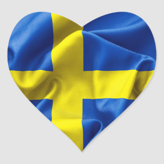 Schweden-Flagge Herz-Aufkleber