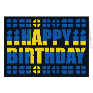 Schweden-Flaggen-Geburtstags-Karte
