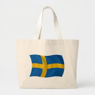 Schweden-Flaggen-Taschen-Tasche Jumbo Stoffbeutel