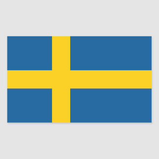 Schwedens Flagge Rechteckiger Aufkleber