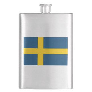 Schwedische Flagge Flachmann