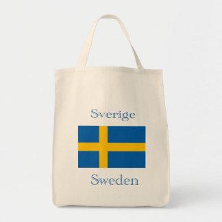Schwedische Flaggen-Tasche Einkaufstasche