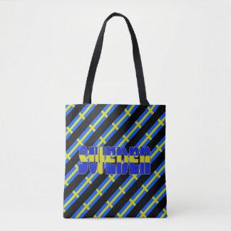 Schwedische Streifenflagge Tasche