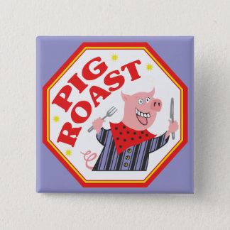 Schwein-Braten Quadratischer Button 5,1 Cm