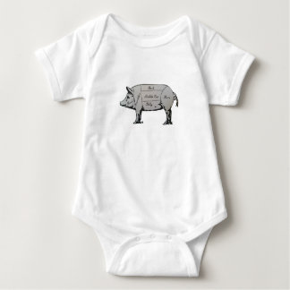 Schwein-Diagramm Baby Strampler