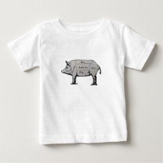 Schwein-Diagramm Baby T-shirt