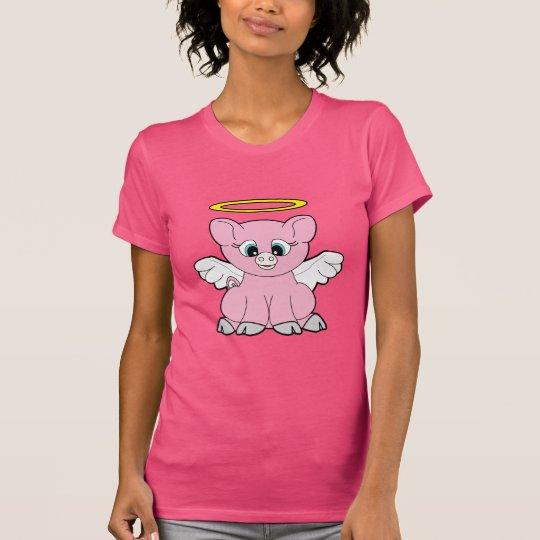 Schwein-Engel T-Shirt