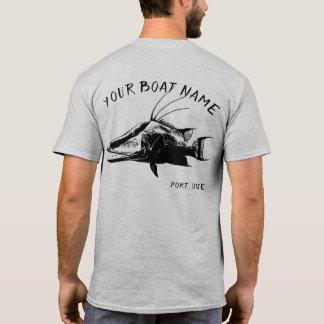 Schwein-Fisch-Boots-Namen-Shirt T-Shirt