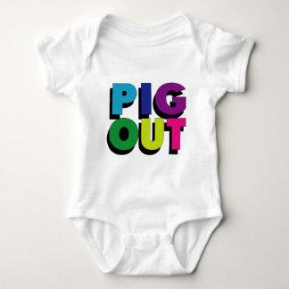 Schwein heraus baby strampler