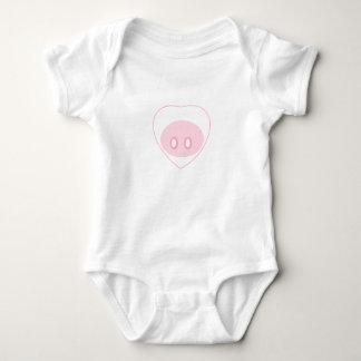 Schwein-Liebe-Säuglings-Einteiler-Ausstattung Baby Strampler