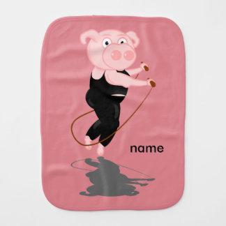 Schwein-Überspringen Baby Spucktuch