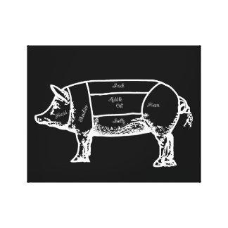 Schweindiagramm Leinwanddruck