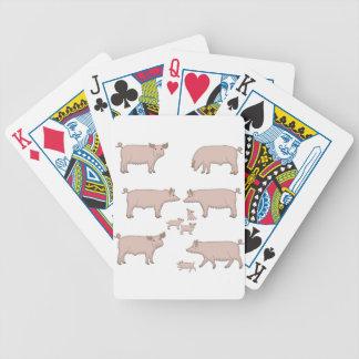 Schweine Bicycle Spielkarten