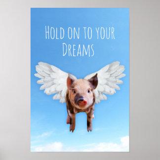 Schweine konnten fliegen poster