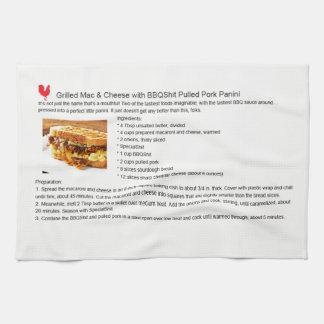 Schweinefleisch-Mac-Käse Panini Handtuch