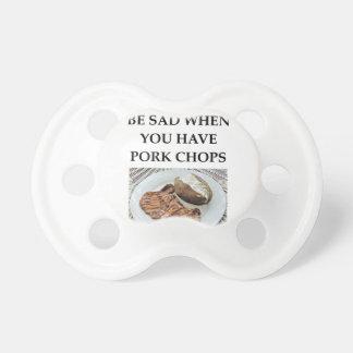 Schweinekoteletts Schnuller