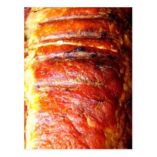 Schweinelende-Braten-Foto Postkarte