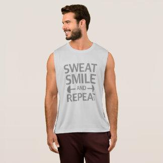 Schweiss-Lächeln und Wiederholung Tank Top