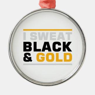Schweiss-Schwarzes u. Gold Silbernes Ornament