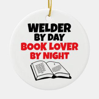 Schweißer durch Tagesbuch-Liebhaber bis zum Nacht Rundes Keramik Ornament