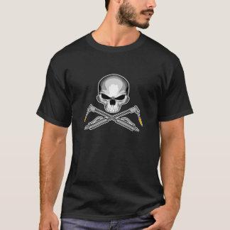 Schweißer-Schädel und gekreuzte Fackeln T-Shirt
