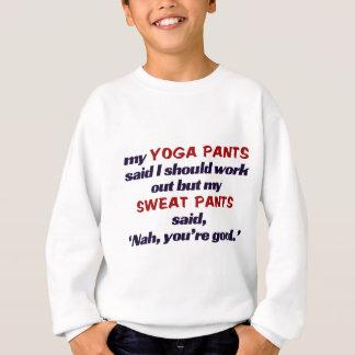 Schweißhosen-Schlag Yoga pants.t Sweatshirt