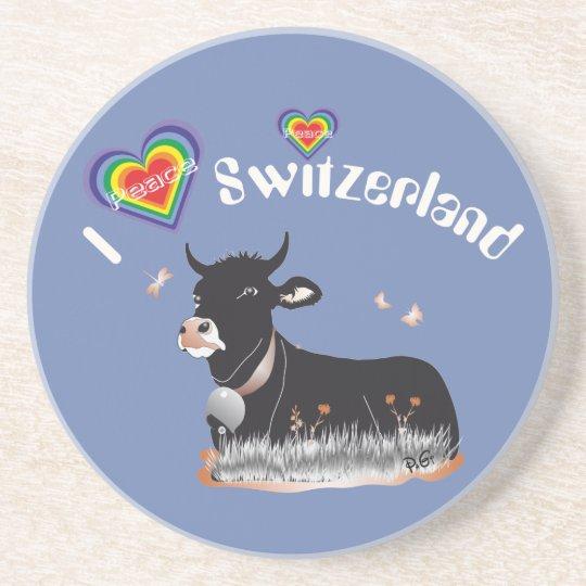 Schweiz Suisse Svizzera Svizra Bierdeckel