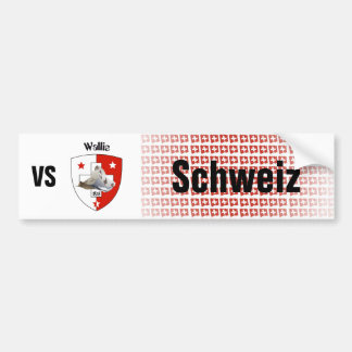 Schweiz Svizzera Suisse Wallis Autoaufkleber