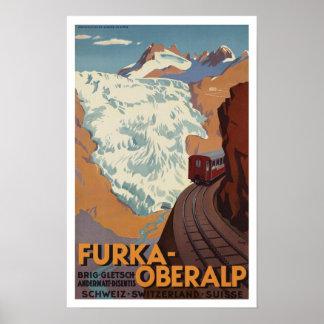 Schweizbahnzug ~ Vintage Reise Poster