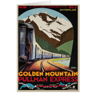 Schweizer Alpen-Grüße mit Vintagem Plakat-Druck Karte