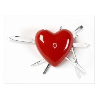 Schweizer Armee-Herz Postkarte