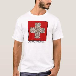 Schweizer Edelweiss Kreuz T-Shirt