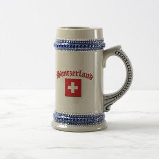 Schweizer Flagge Bierglas