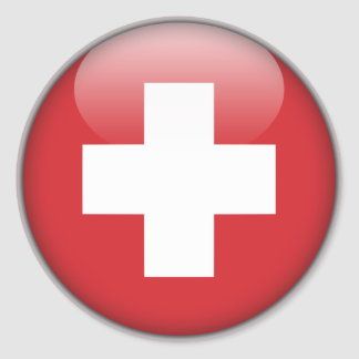 Schweizer Flagge - Flagge von der Schweiz Runder Aufkleber
