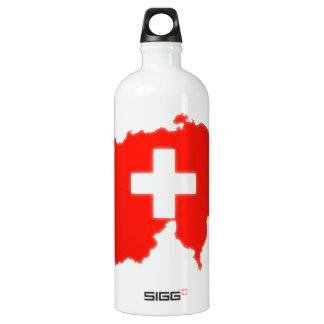 Schweizer Flaggenkarte Aluminiumwasserflaschen