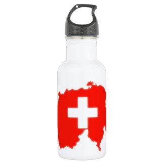 Schweizer Flaggenkarte Trinkflaschen