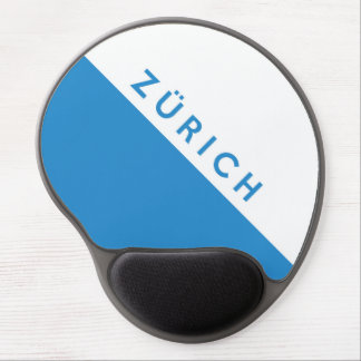 Schweizer Flaggenregion der Zürich-Provinz Schweiz Gel Mousepad