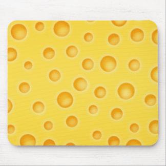 Schweizer Käse Cheezy Beschaffenheits-Muster Mousepads