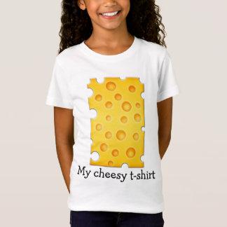 Schweizer Käse Cheezy Beschaffenheits-Muster T-Shirt