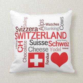 Schweizer Lieblingssachen - i-Liebe die Schweiz Zierkissen