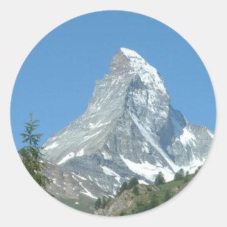 Schweizer-Matterhorn-Aufkleber Runder Aufkleber