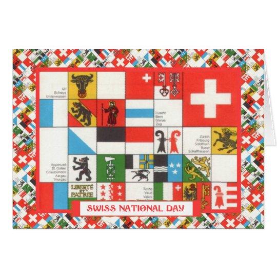 Schweizer Nationaltag-Grüße Karte