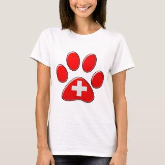 Schweizer patriotische Katze T-Shirt
