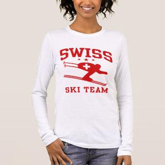 Schweizer Ski-Team Langarm T-Shirt