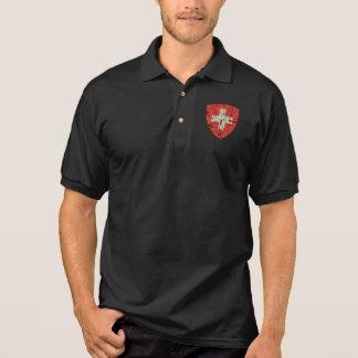 Schweizer Wappen, beunruhigt Polo Shirt