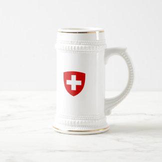 Schweizer Wappen - die Schweiz-Andenken Bierkrug