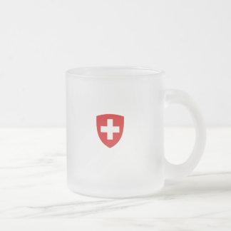Schweizer Wappen - die Schweiz-Andenken Matte Glastasse